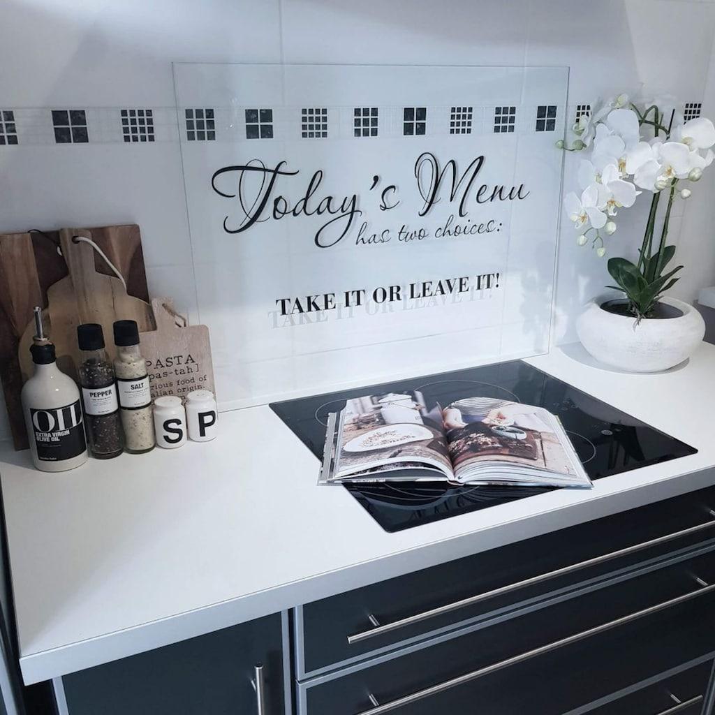 Wall-Art Küchenrückwand »Transparent - Take it or leave it«