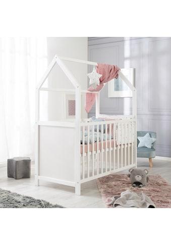 roba® Babybett »Hausbett 60x120, weiß«, FSC®-Holz aus gewissenhaft bewirtschafteten... kaufen