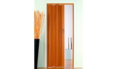 Kunststoff - Falttür »Monica«, BxH: 83x204 cm, Buchefarben - Pastell ohne Fenster kaufen