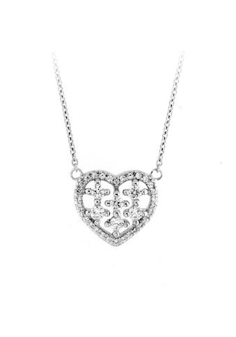Smart Jewel Collier »Mittelteil Herz mit Zirkonia Steinen, Silber 925« kaufen