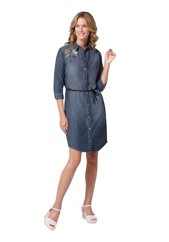 Ambria Jeans - Kleid mit Blumen - Stickerei und Pailletten kaufen