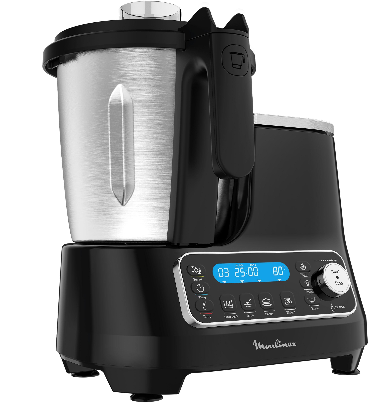 Moulinex Küchenmaschine mit Kochfunktion HF4568 Click Chef schwarz Küchenmaschinen Haushaltsgeräte