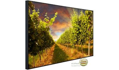 Papermoon Infrarotheizung »Sonnenuntergang Weinberg«, sehr angenehme Strahlungswärme kaufen