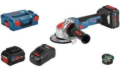 Bosch Professional Akku-Winkelschleifer »GWX 18V-10 SC (2x 8.0Ah, GAL 1880«, mit 2... kaufen