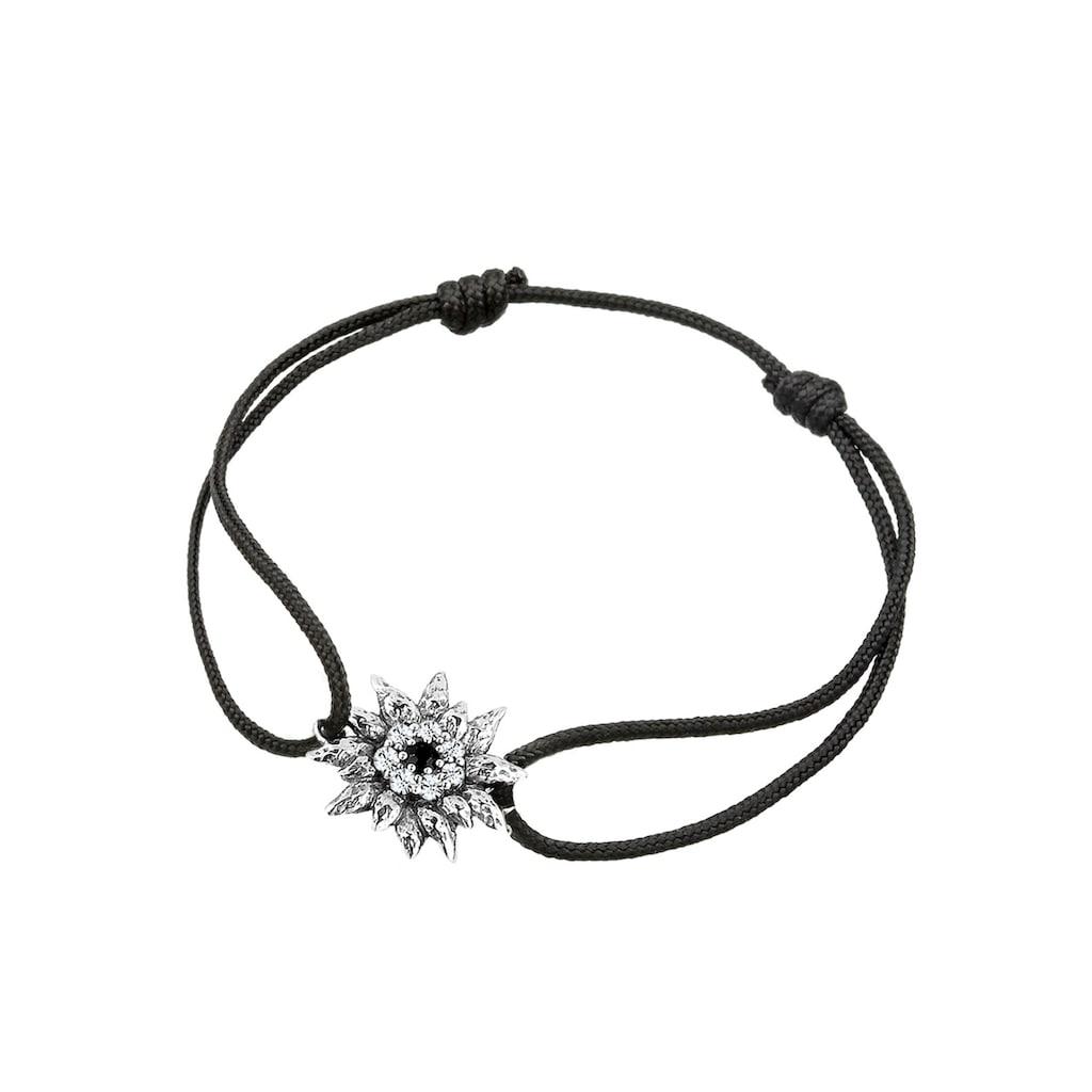 Elli Armband »Edelweiß Wiesn Tracht Kristalle Silber«
