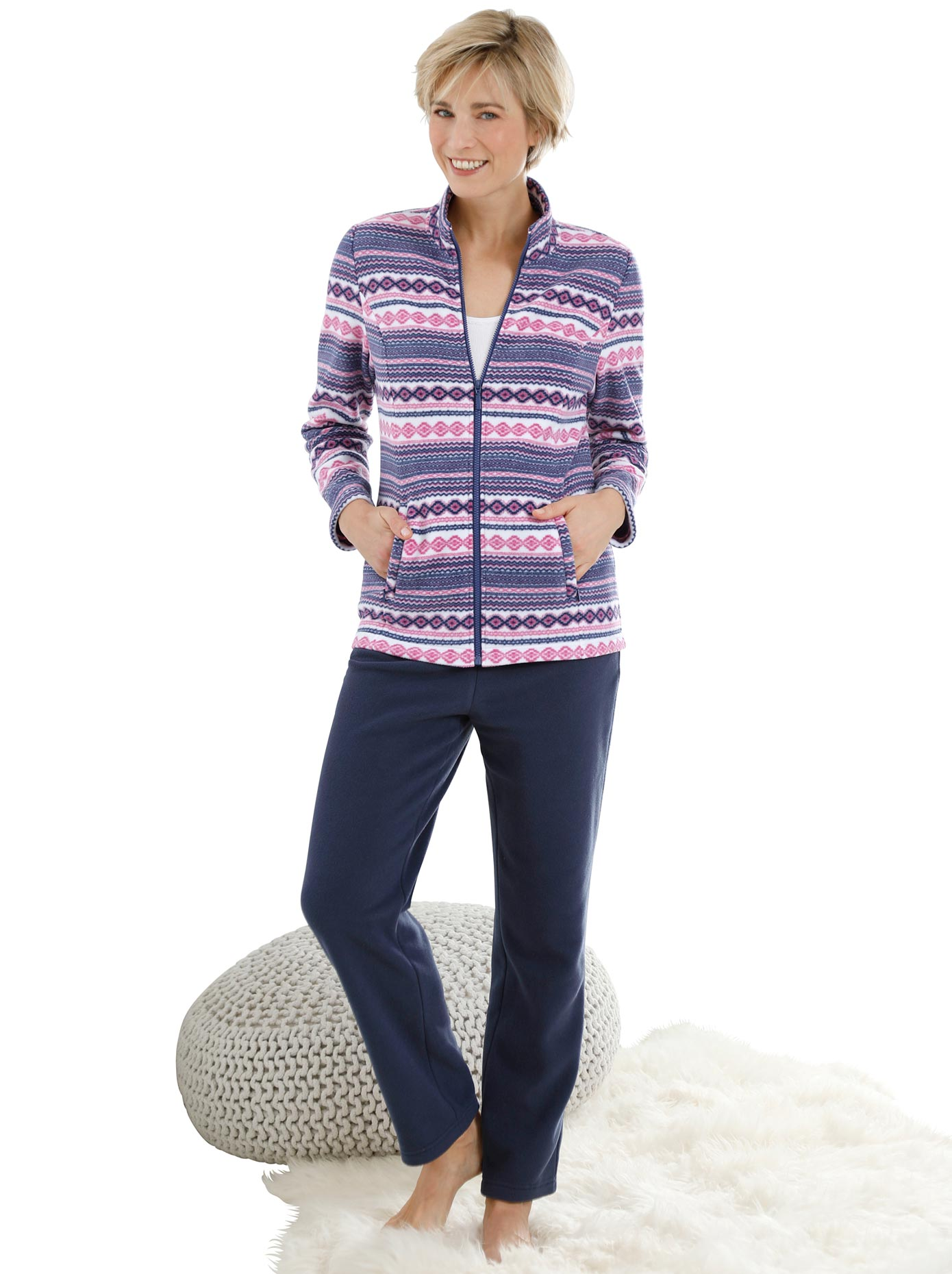 feel good Hausanzug aus weichem Fleece | Bekleidung > Homewear > Hausanzüge