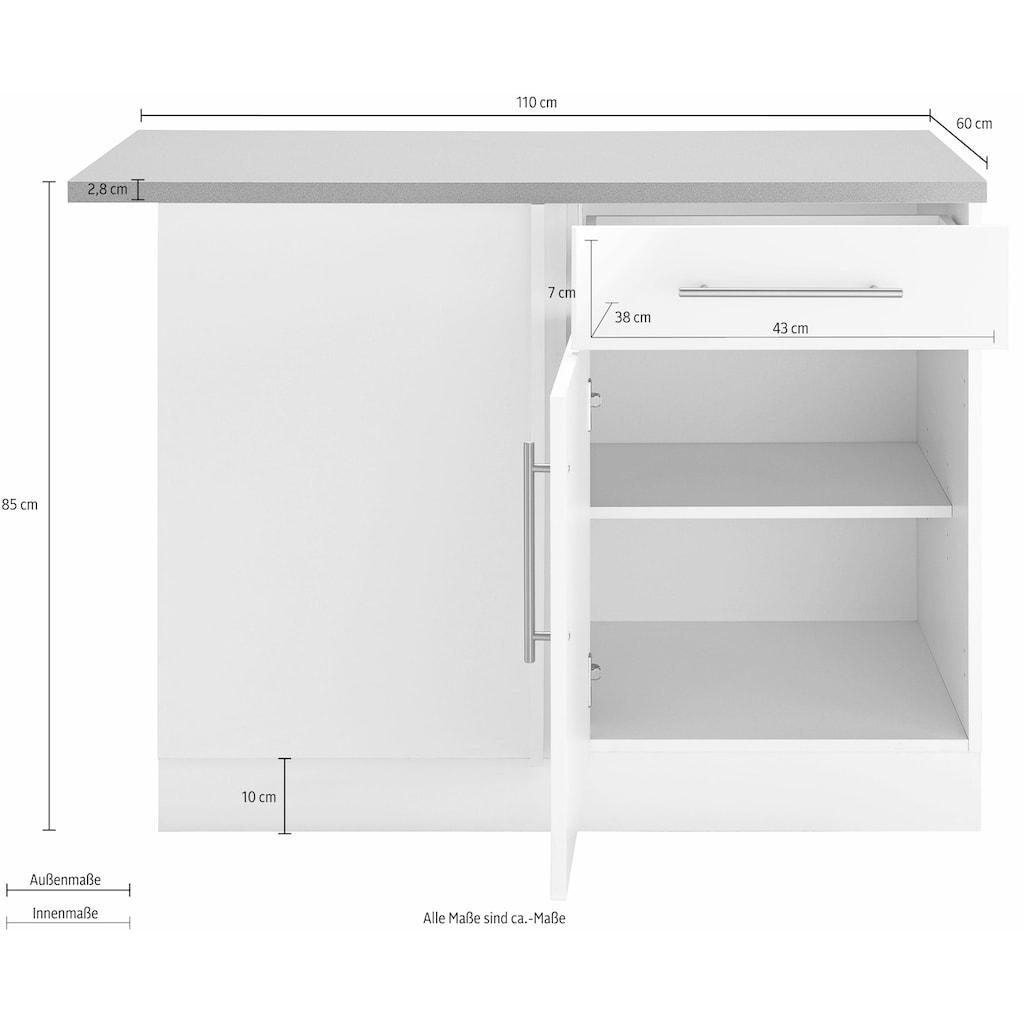 wiho Küchen Eckunterschrank »Cali«, 110 cm breit