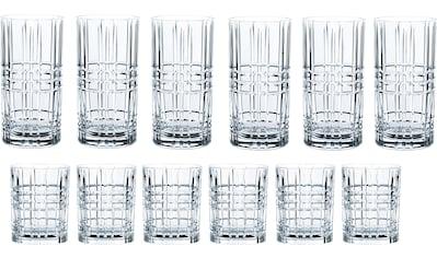 Nachtmann Gläser-Set »Highland«, (Set, 12 tlg.), Kristallglas mit markantem Schliff kaufen