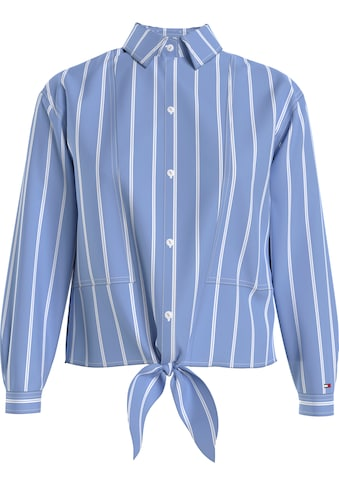 Tommy Jeans Hemdbluse »TJW RELAXED FRONT KNOT SHIRT«, mit Knotendetail vorn kaufen