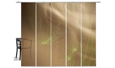 Schiebegardine, »Grasnebel«, emotion textiles, Klettband 5 Stück kaufen