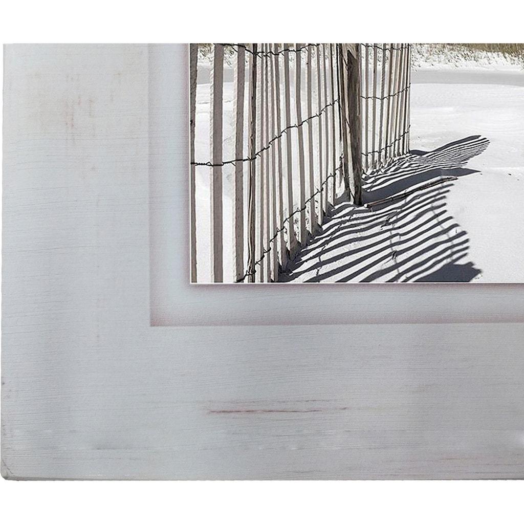 Home affaire Holzbild »Zaun am Strand«, 40/40 cm
