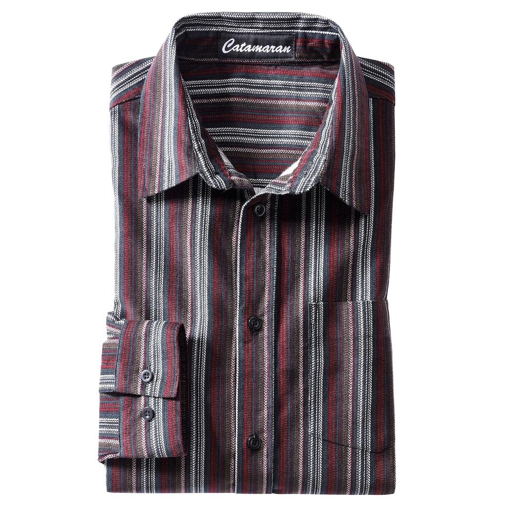 Catamaran Langarm-Hemd aus Feincord