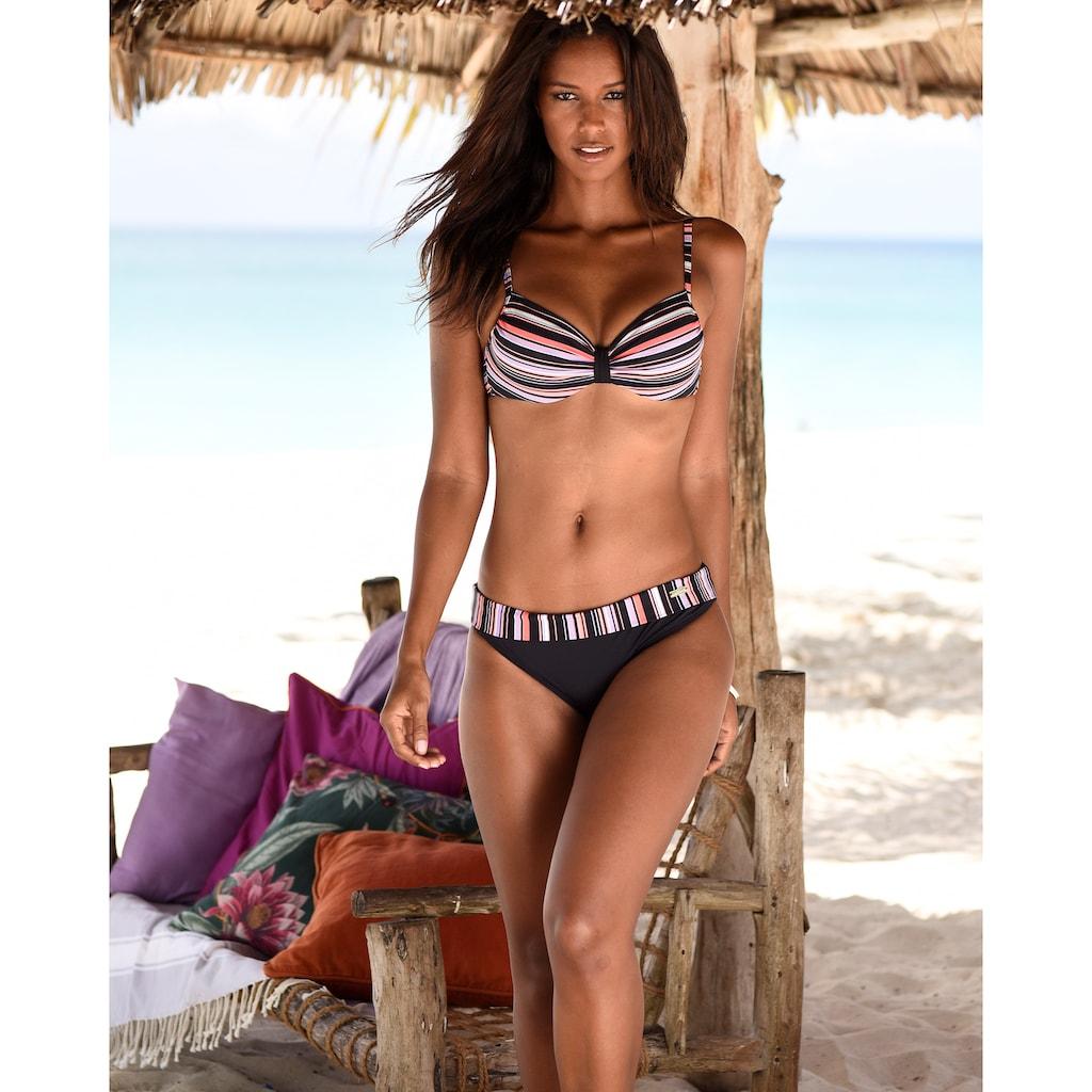 LASCANA Bügel-Bikini-Top »Voss«, mit kontrastfarbenem Detail