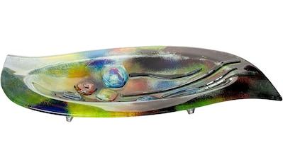 GILDE GLAS art Dekoschale »Fresh Flowers«, handbemalt mit Fusingglas-Elementen kaufen