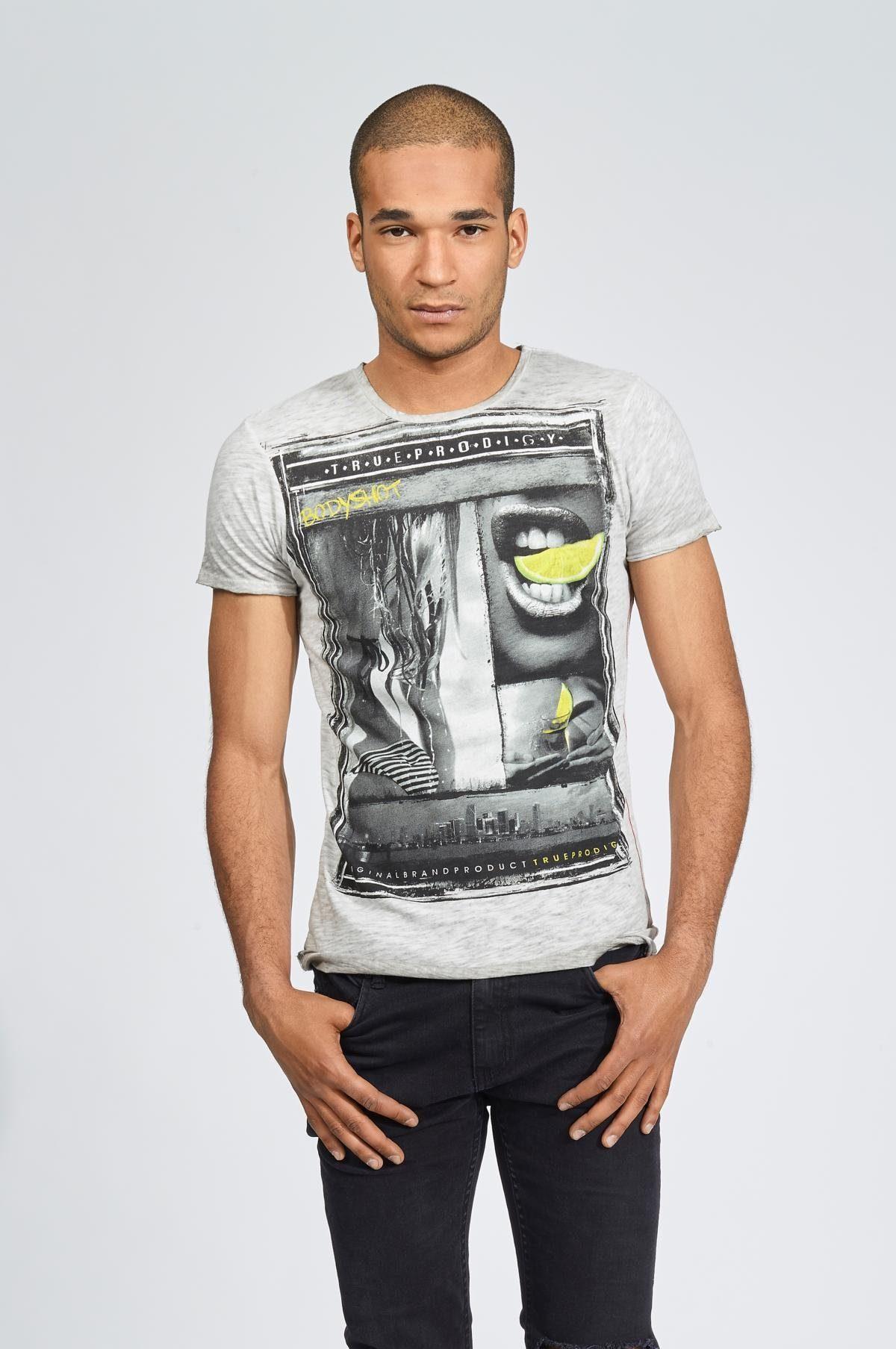 trueprodigy T-Shirt Bodyshot grau Herren Shirts 87974146