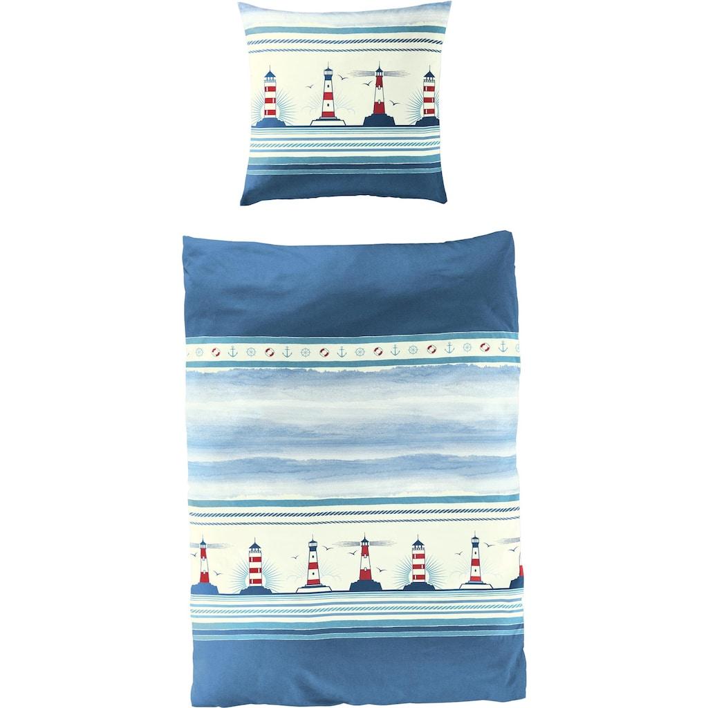 BIERBAUM Bettwäsche »Leuchtturm«, maritim