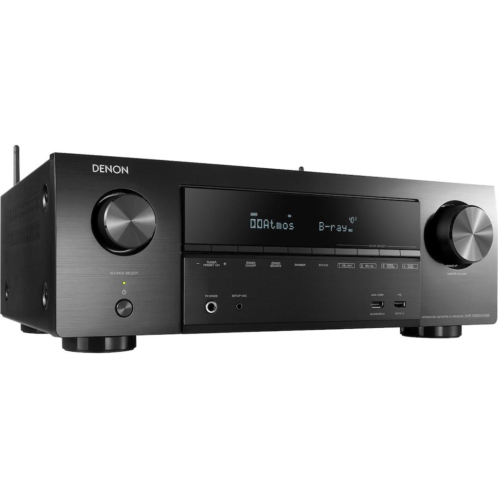 Denon AV-Receiver »AVR-X1600H DAB«, 7.2, (LAN (Ethernet)-Bluetooth-WLAN Sprachsteuerung-FM-Tuner), mit Sprachsteuerung