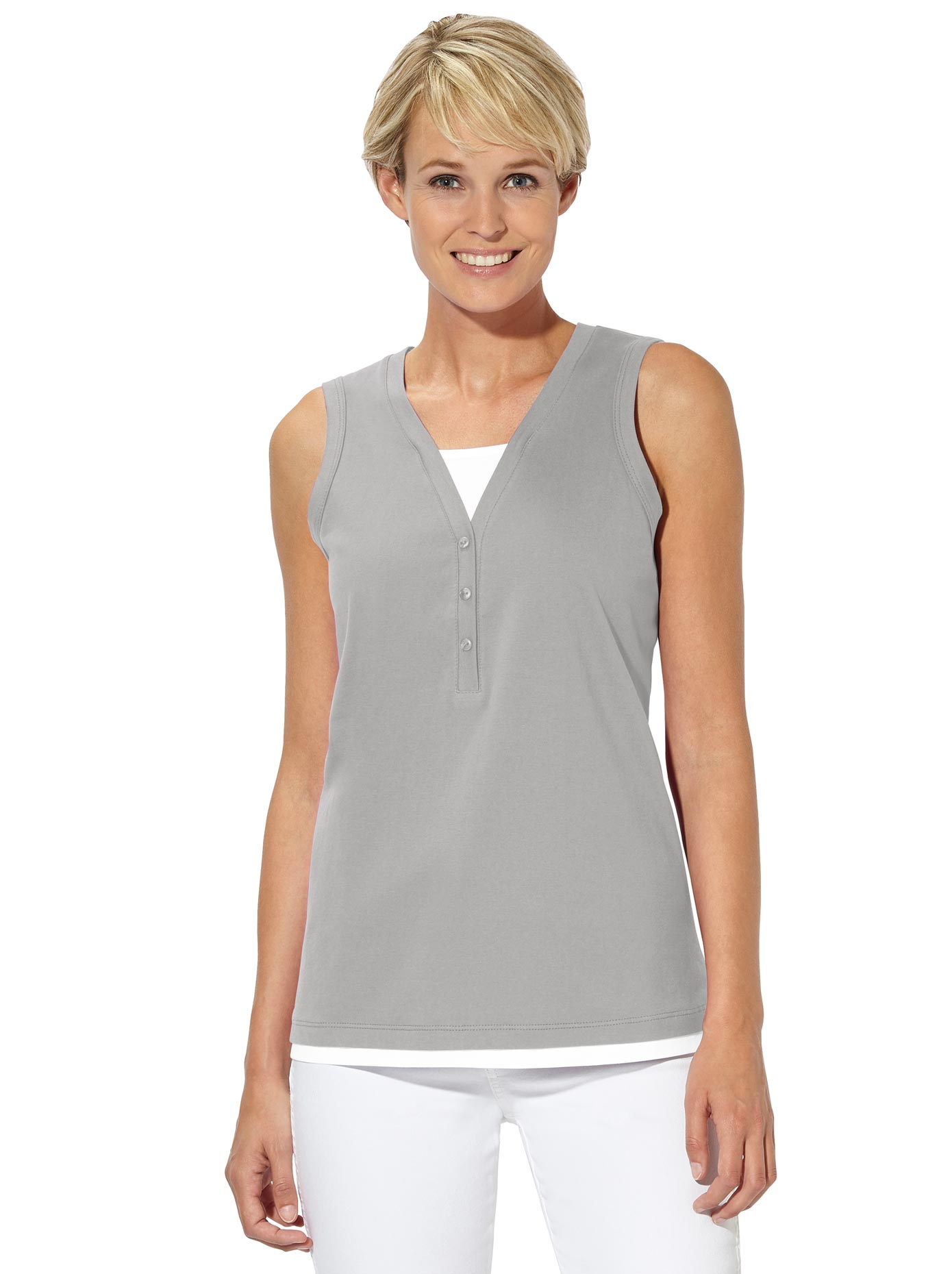 Collection L Shirttop in der flotten 2-in-1-Optik | Bekleidung > Tops > 2-in-1-Tops | Casual Looks