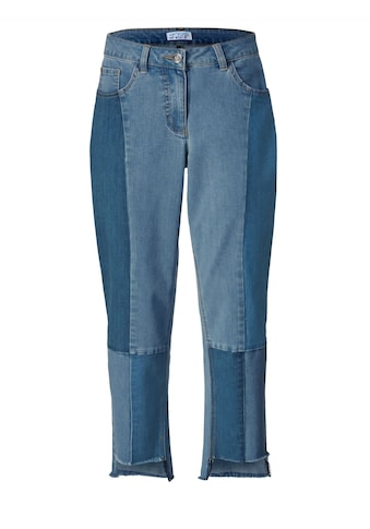 Angel of Style by Happy Size Slim Fit Jeans knöchellang mit Fransensaum kaufen