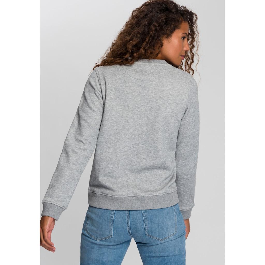 Gant Sweatshirt, mit kontrastfarbenem Logo auf der Brust