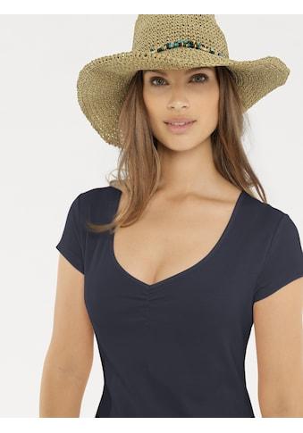 Shirtkleid mit Raffung am Ausschnitt kaufen