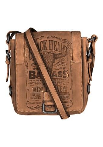 JACK'S INN 54 Umhängetasche, aus Leder im Vintage Look mit cooler Prägung kaufen