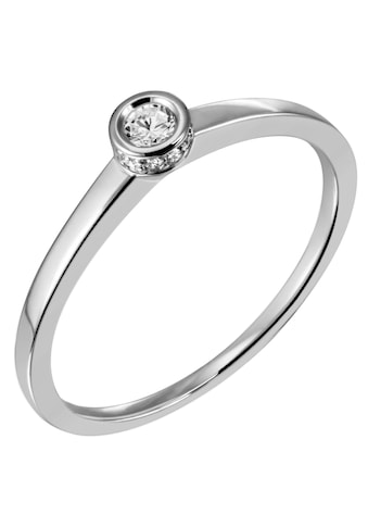 Firetti Diamantring »Solitär, ca. 1,43 mm breit, glänzend, rhodiniert, massiv«, mit... kaufen