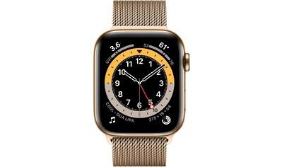 Apple Series 6 GPS + Cellular, Edelstahlgehäuse mit Milanaise Armband 44mm Watch kaufen