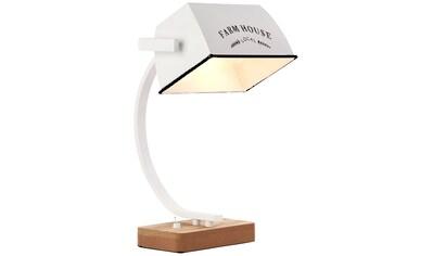 Brilliant Leuchten Davis Tischleuchte holz hell/weiß glanz FARM HOUSE kaufen