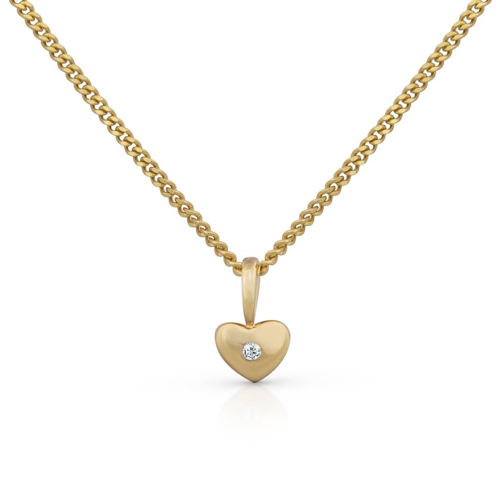 Orolino Kette mit Anhänger »585 Gold gelb natürlicher Brillant Herz«, (1 tlg.)