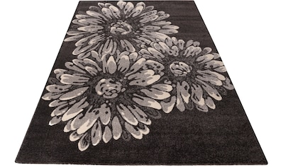 my home Teppich »Vaiana«, rechteckig, 14 mm Höhe, Blumen Design, Wohnzimmer kaufen