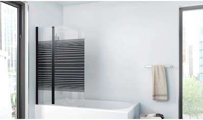 Marwell Badewannenfaltwand »BLACK LINES«, mit Sichtschutz kaufen