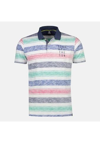 LERROS Poloshirt, mit melierten, farbigen Streifen kaufen