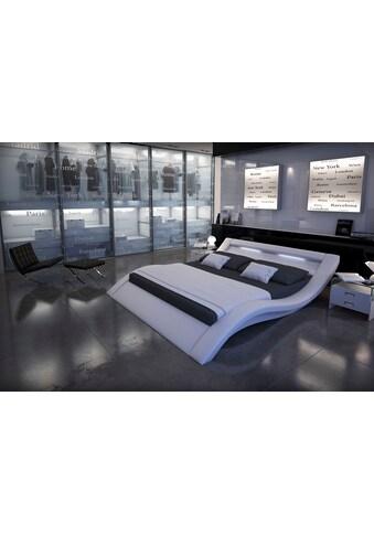SalesFever Polsterbett, mit LED-Licht im Kopfteil, Lounge Bett in moderner Form,... kaufen