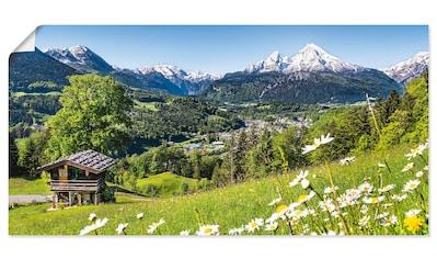 Artland Wandbild »Landschaft in den Bayerischen Alpen« kaufen