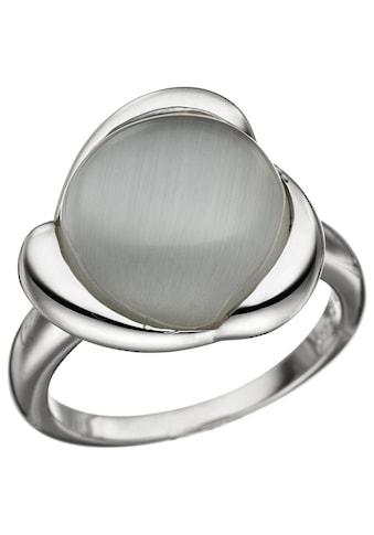 JOBO Silberring, 925 Silber mit synthetischem Katzenauge kaufen
