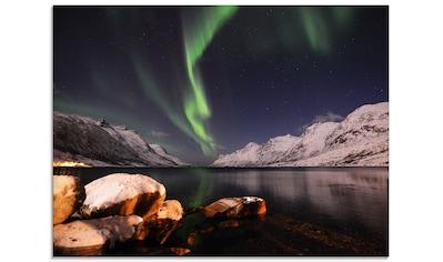 Artland Glasbild »Nordlicht Norwegen II«, Himmel, (1 St.) kaufen