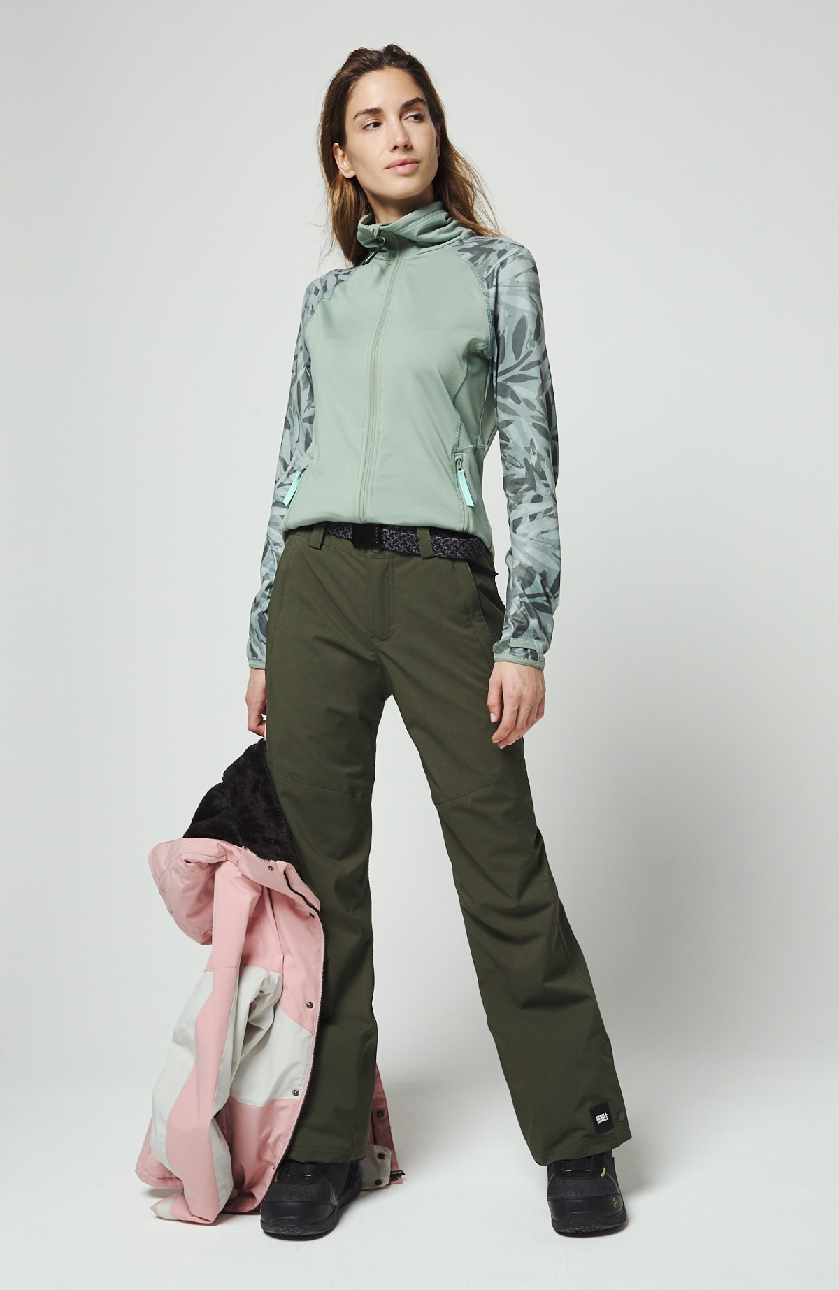 O'Neill Skihose grün Damen Wintersporthosen Sporthosen Sportmode Sporthose