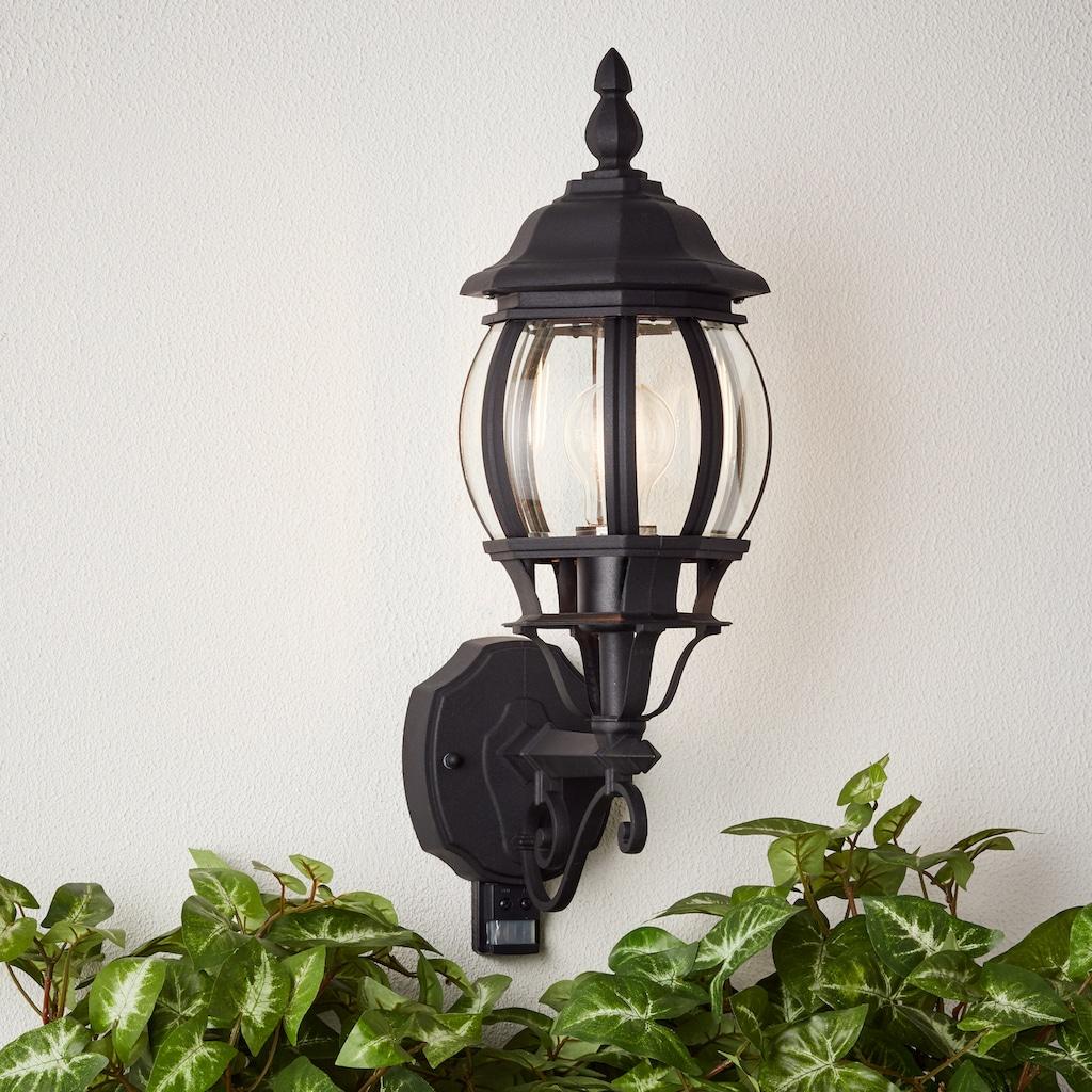 Brilliant Leuchten Istria Außenwandleuchte stehend Bewegungsmelder schwarz