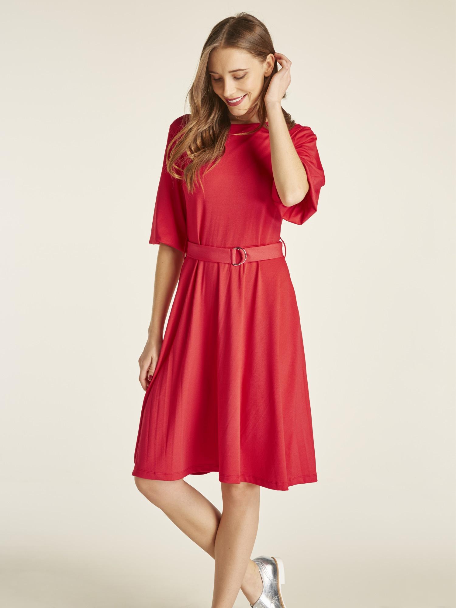 heine TIMELESS Jerseykleid mit Bindegürtel