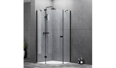 MARWELL Duschwand » LOFT Runddusche 90x90x200 cm«, mit 1 Schwenktür und 2 Glaselementen kaufen