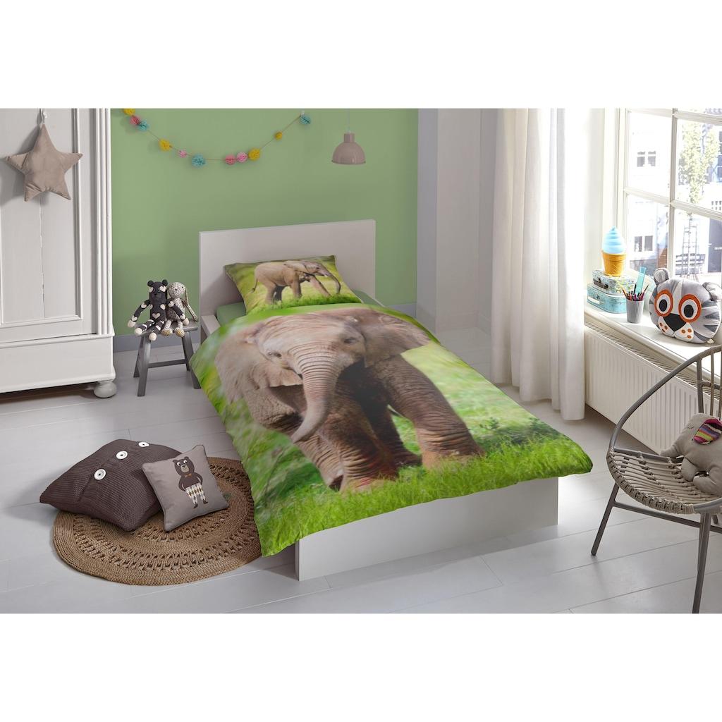 good morning Kinderbettwäsche »Elephant«, mit Elefant