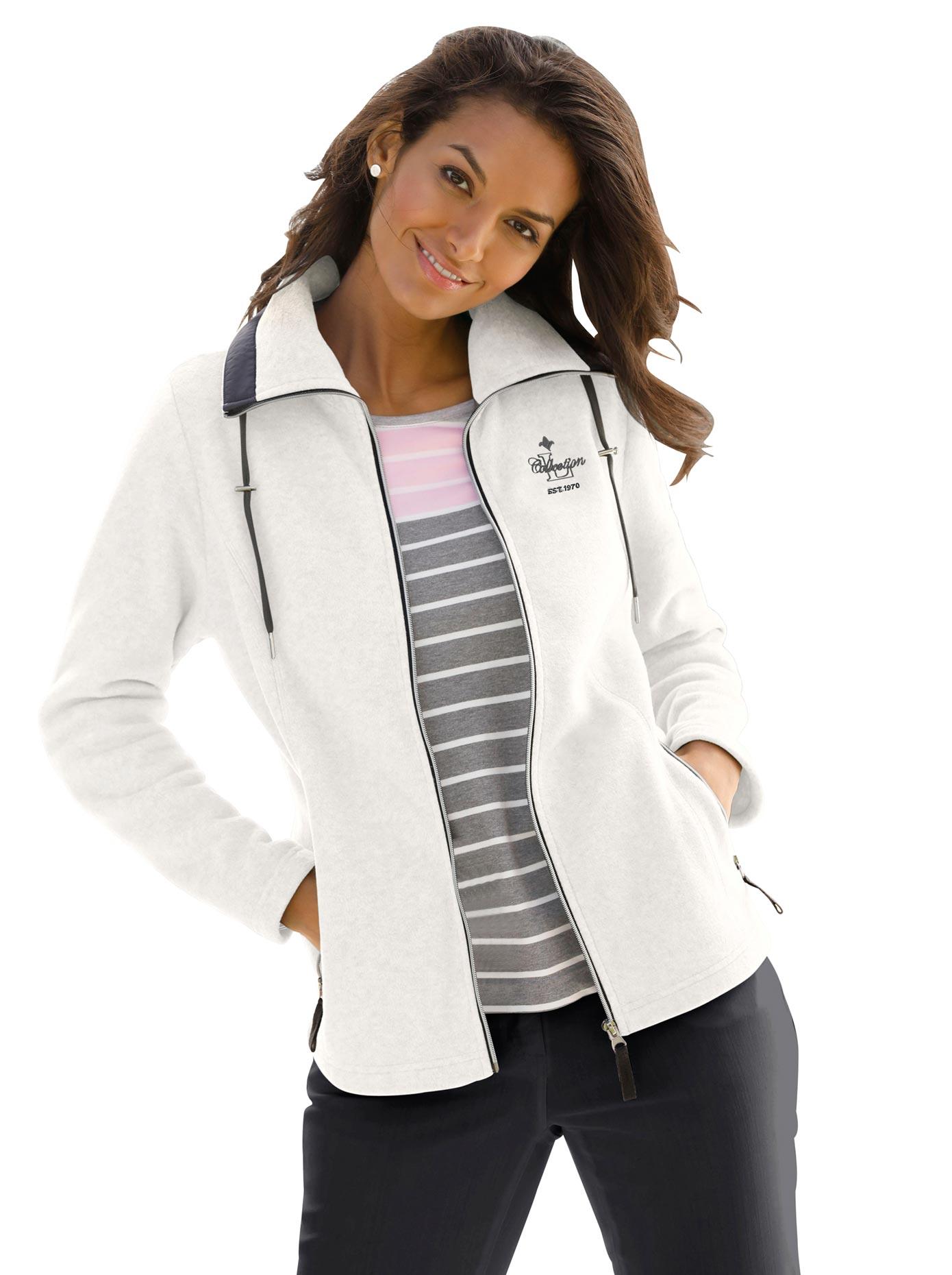 Casual Looks Fleece-Jacke mit durchgehendem Reißverschluss | Bekleidung > Jacken > Fleecejacken | Beige | Casual Looks