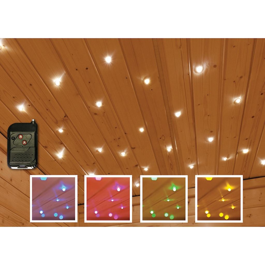 Karibu Saunaleuchte »Sternenhimmel«, Farbwechsler, Leuchtet in 5 versch. Farben, mit Fernbedienung