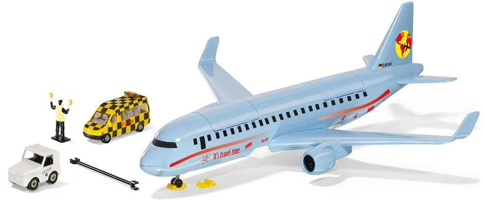 Siku Spielzeug-Flugzeug SIKU World, Verkehrsflugzeug, mit Licht blau Kinder Ab 3-5 Jahren Altersempfehlung