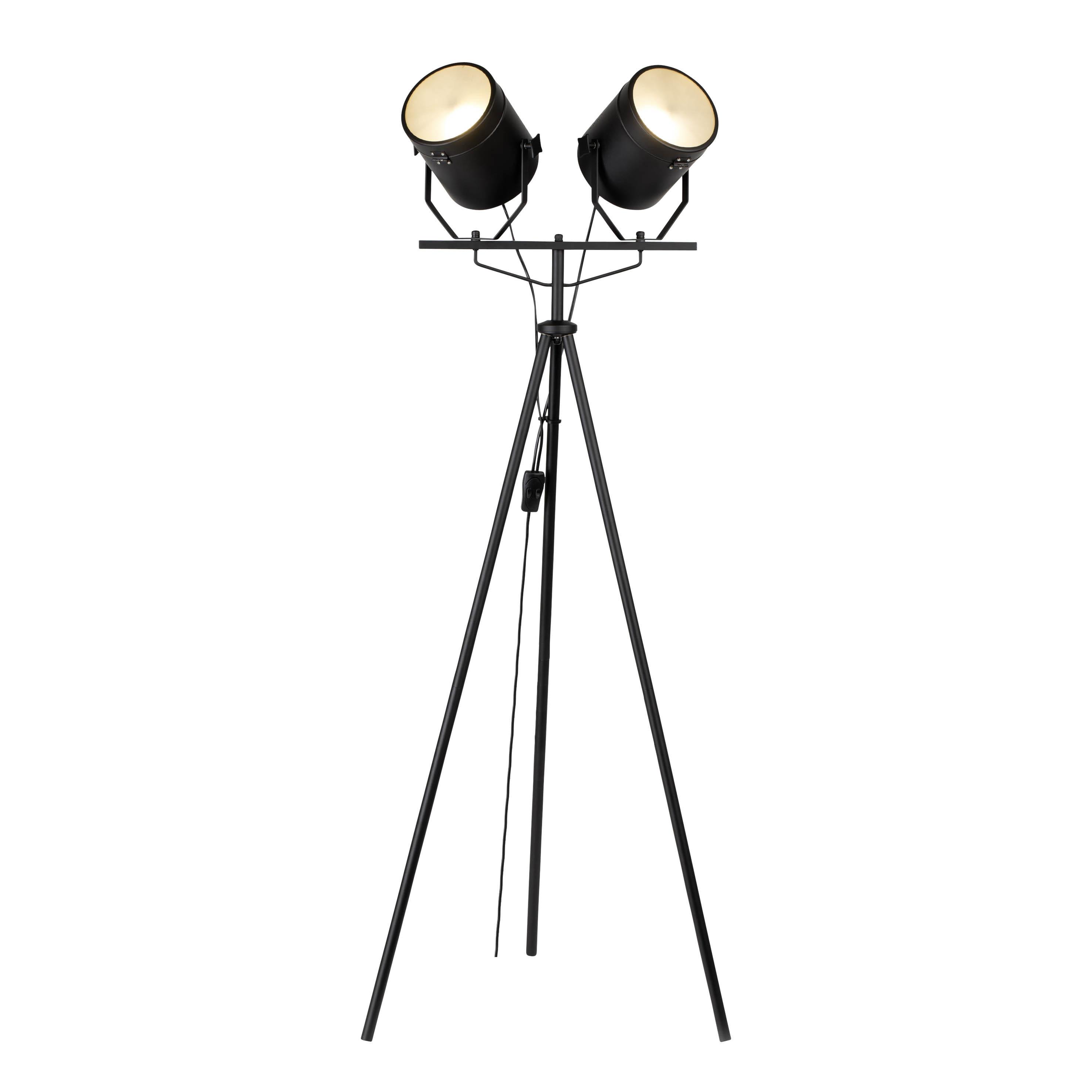Brilliant Leuchten Filmo Standleuchte 2flg schwarz