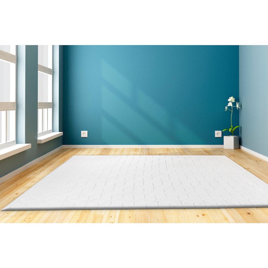 andas Teppich »Conni«, rechteckig, 20 mm Höhe, retro, Wohnzimmer