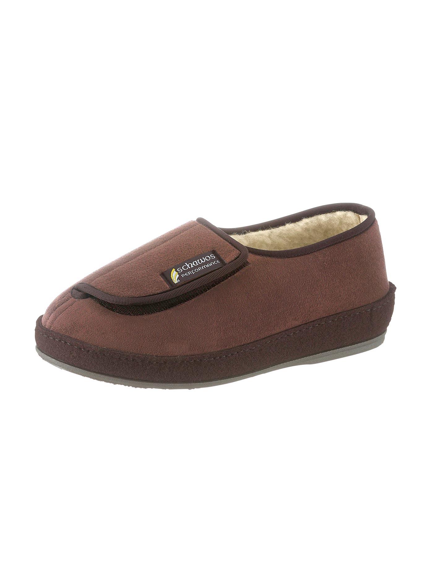 SCHAWOS Hausschuh braun Herren Hausschuhe Offene Schuhe
