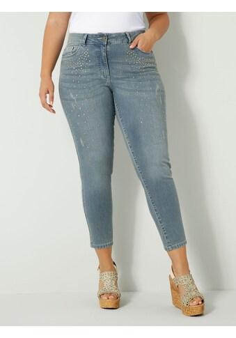 Sara Lindholm Slim-fit-Jeans, mit Strasssteinen vorne kaufen