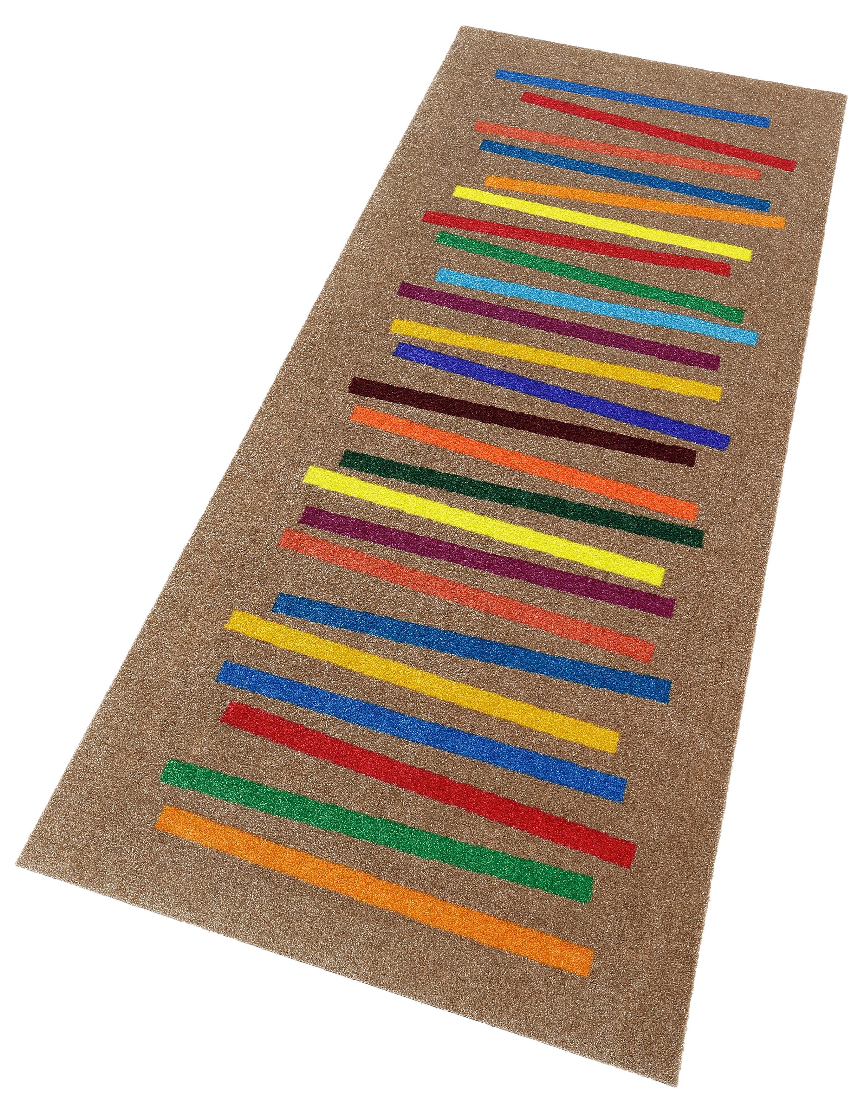 Läufer Mixed Stripes wash+dry by Kleen-Tex rechteckig Höhe 9 mm gedruckt